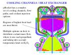 cooling channels heat exchanger