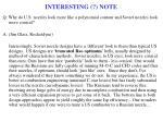 interesting note