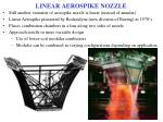 linear aerospike nozzle