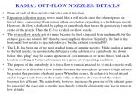 radial out flow nozzles details