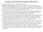 radial out flow nozzles details