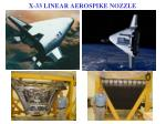 x 33 linear aerospike nozzle