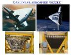 x 33 linear aerospike nozzle