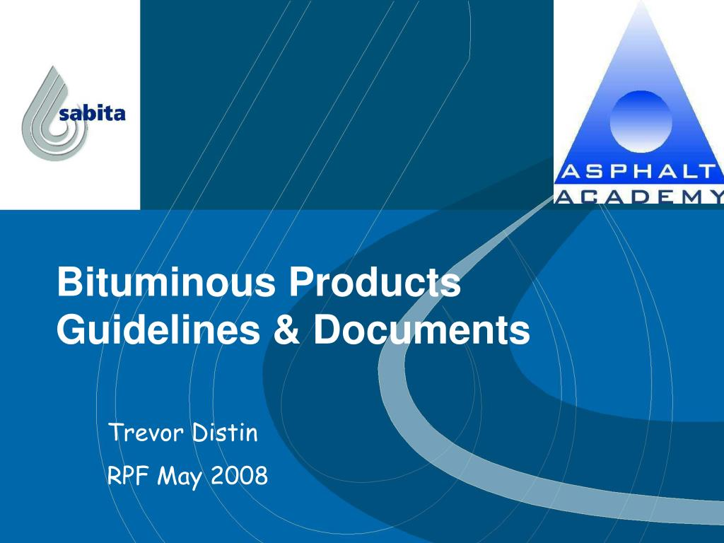 bituminous products guidelines documents l.