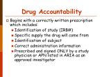 drug accountability