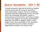 source documents ich 1 52