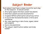 subject binder37
