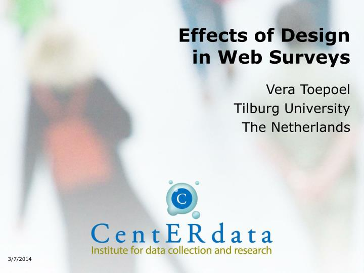 Effects of design in web surveys