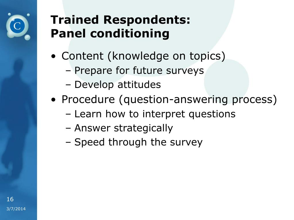 Trained Respondents: