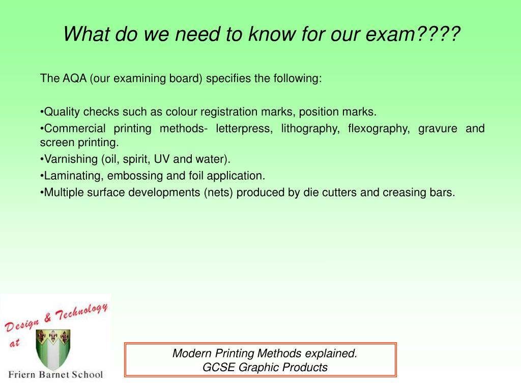 what do we need to know for our exam l.