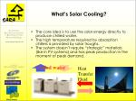 what s solar cooling