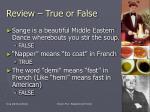 review true or false22