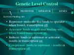 genetic level control33