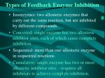 types of feedback enzyme inhibition