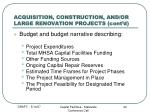 acquisition construction and or large renovation projects cont d