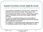 capital facilities funds can be used