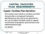 capital facilities plan requirements