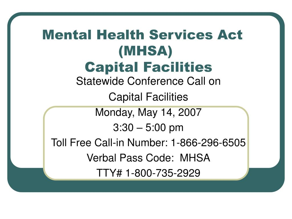 mental health services act mhsa capital facilities l.