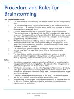 procedure and rules for brainstorming