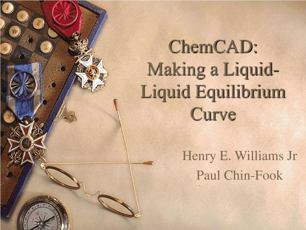 chemcad making a liquid liquid equilibrium curve l.