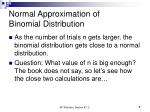 normal approximation of binomial distribution7