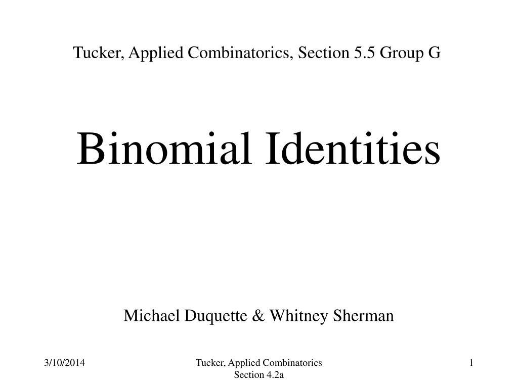 binomial identities l.
