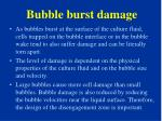 bubble burst damage