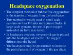 headspace oxygenation