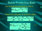 batch production rate