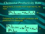 chemostat productivity rate