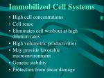 immobilized cell systems