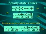 steady state values22
