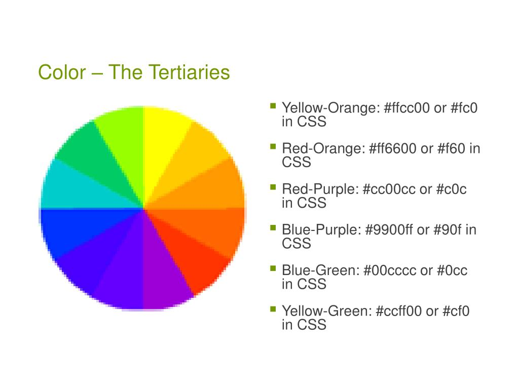 Color – The Tertiaries