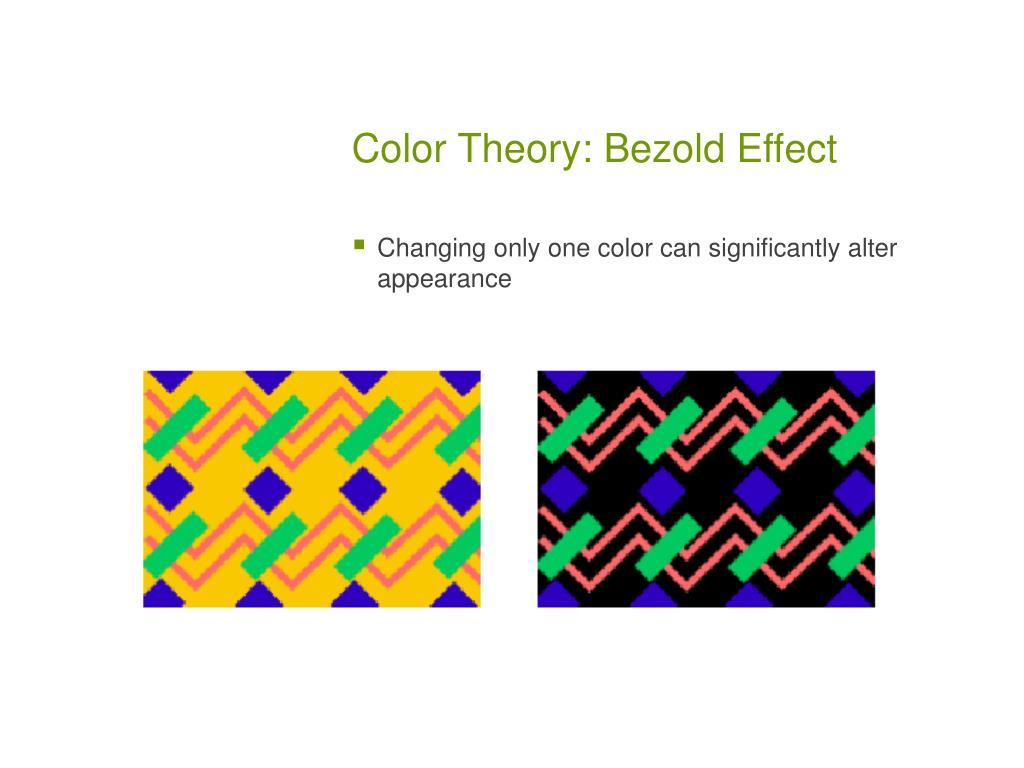 Color Theory: Bezold Effect