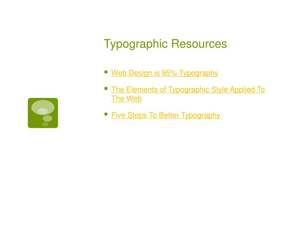 Typographic Resources