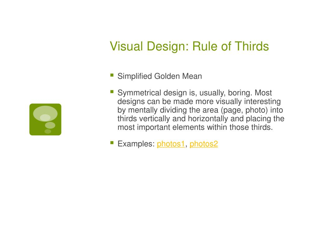 Visual Design: Rule of Thirds