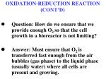 oxidation reduction reaction cont d