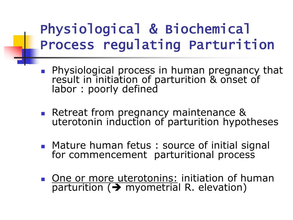 physiological biochemical process regulating parturition l.