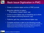 back issue digitization in pmc