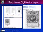 back issue digitized images