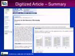 digitized article summary