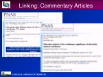 linking commentary articles