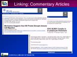 linking commentary articles29