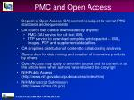 pmc and open access