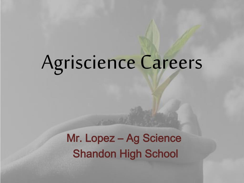agriscience careers l.