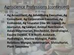 agriscience professions continued