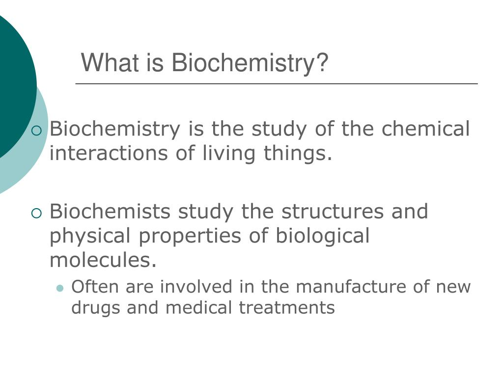 what is biochemistry l.