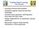 problem based learning the process