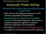 eukaryotic protein sorting