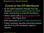 events at the er membrane